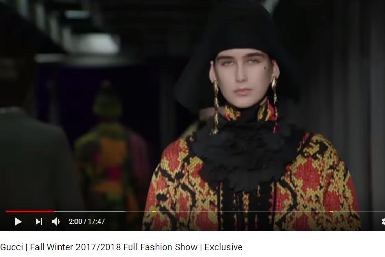 Gucci 2017-2018 Sonbahar Kış Moda Defilesi